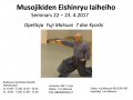 Musojikiden Eishinryu Iaiheiho 22 -23.4.2017